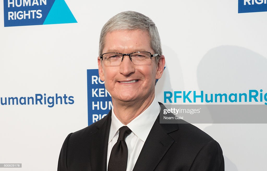 Apple CEO Tim Cook attends the Robert F. Kennedy human rights 2015 Ripple of Hope awards at New York Hilton Midtown on December 8, 2015 in New York City.