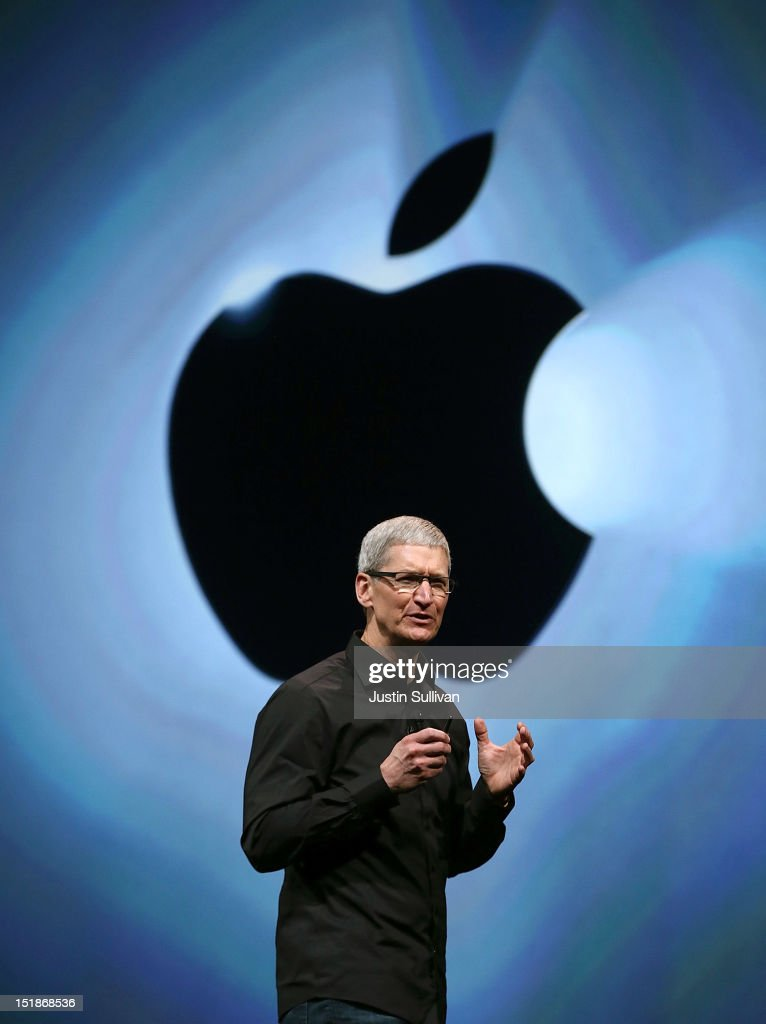 Apple CEO Tim Cook speaks during an Apple special event at the Yerba Buena Center for the Arts on September 12, 2012 in San Francisco, California. Apple announced the iPhone 5, the latest version of the popular smart phone.