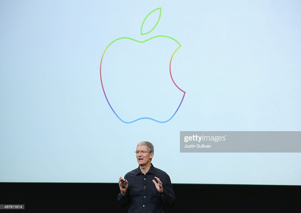 Apple CEO Tim Cook speaks during an event introducing new iPads at Apple's headquarters October 16 2014 in Cupertino California