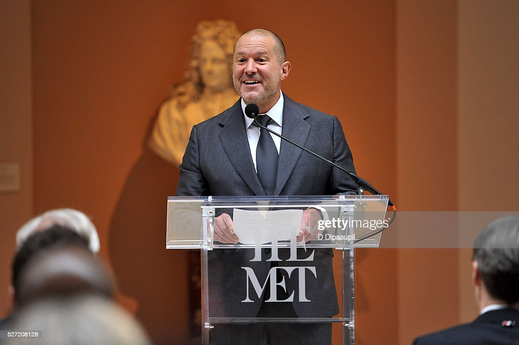 Apple chief design officer Jony Ive speaks during the 'Manus x Machina: Fashion in an Age of Technology' press preview at the Metropolitan Museum of Art on May 2, 2016 in New York City.