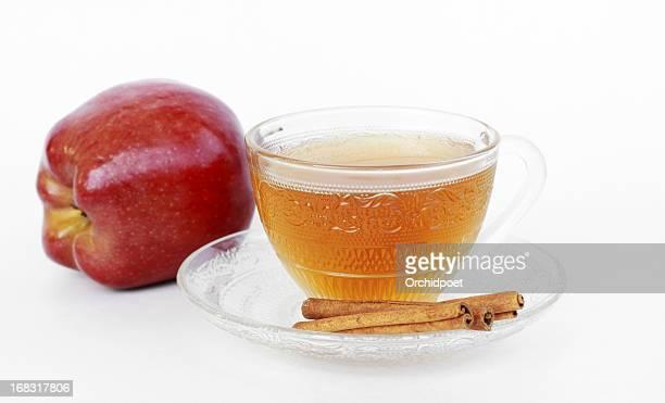 Apple Cider mit Zimt Stick