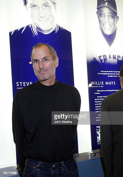 Apple Computer CEO Steve Jobs poses for a photo during the 2007 California Hall of Fame induction ceremony at the California Museum of History on...