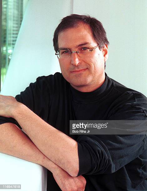 Apple Computers CEO Steve Jobs during Steve Jobs 1996 Portrait Session by Bob Riha in Redwood California United States