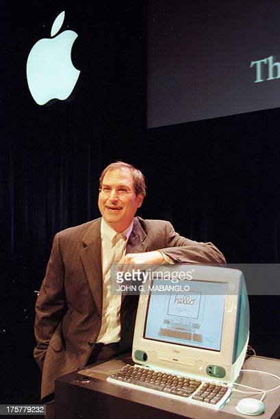 Apple Computer's Interim CEO Steve Jobs unveils a new computer called the iMac which is based on the PowerPC G3 processor and is marketed for the...