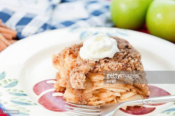Apple Crumble with cream