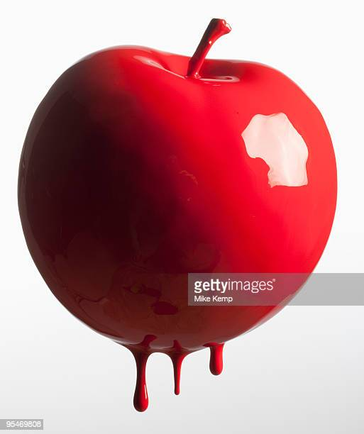 Apple dripping with color