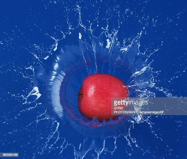 Apple hitting water