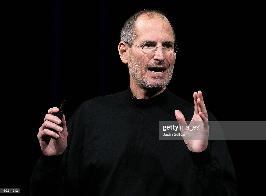 Apple Inc CEO Steve Jobs announces the new iPad as he speaks during an Apple Special Event at Yerba Buena Center for the Arts January 27 2010 in San...