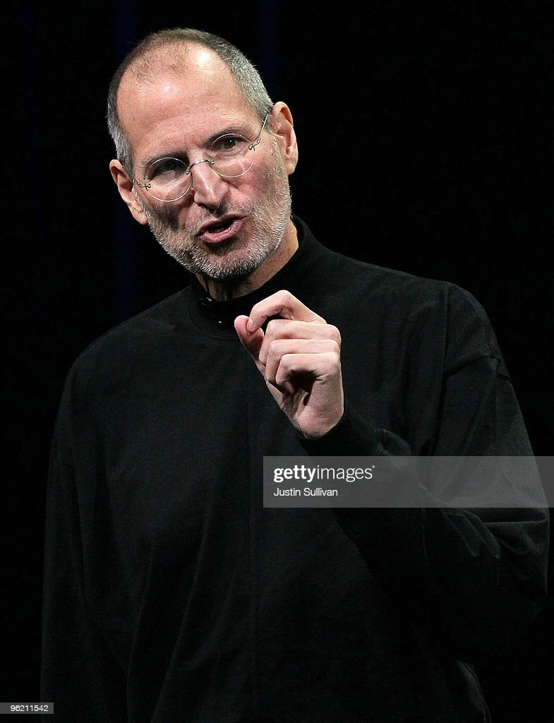 Apple Inc. CEO <a gi-track='captionPersonalityLinkClicked' href=/galleries/search?phrase=Steve+Jobs&family=editorial&specificpeople=204493 ng-click='$event.stopPropagation()'>Steve Jobs</a> announces the new iPad as he speaks during an Apple Special Event at Yerba Buena Center for the Arts January 27, 2010 in San Francisco, California. Apple introduced its latest creation, the iPad, a mobile tablet browsing device that is a cross between the iPhone and a MacBook laptop.