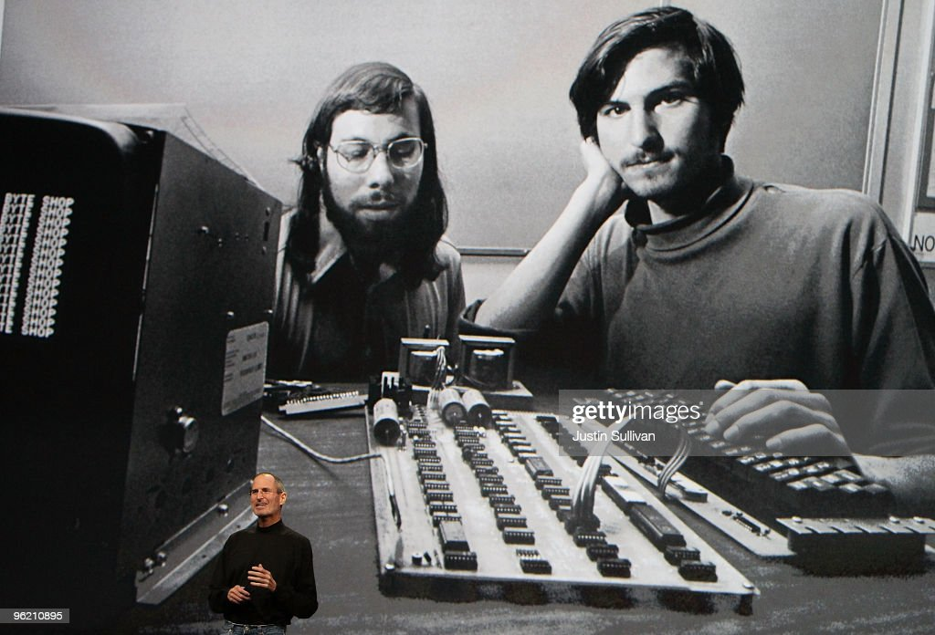 Apple Inc. CEO <a gi-track='captionPersonalityLinkClicked' href=/galleries/search?phrase=Steve+Jobs&family=editorial&specificpeople=204493 ng-click='$event.stopPropagation()'>Steve Jobs</a> speaks during an Apple Special Event at Yerba Buena Center for the Arts January 27, 2010 in San Francisco, California. Apple introduced its latest creation, the iPad, a mobile tablet browsing device that is a cross between the iPhone and a MacBook laptop.