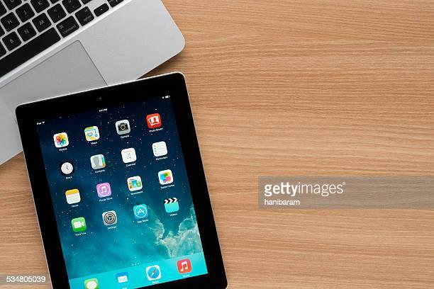 Apple iPad on a worktable