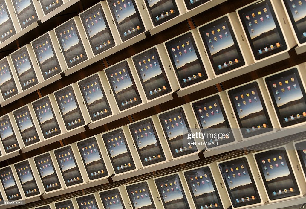 Apple iPad's are seen on a shelf in the company's new Covent Garden store in central London on August 5 2010 Senior Vice President of Retail...