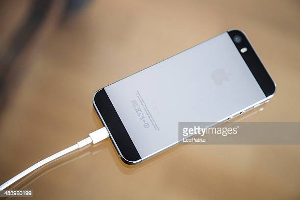 Apple iPhone 5s Backside and charger cable