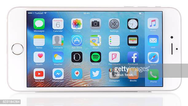 Apple iPhone 6 Plus in horizontal position