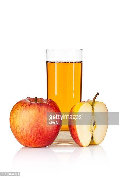 Apple juice isolated