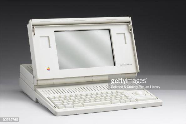 Apple Mac portable computer model M5126 made by Apple Computers Inc USA The Apple Macintosh was designed by Steve Jobs to be as 'userfriendly' as...