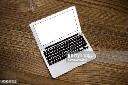 Apple Macbook Air at the Desk