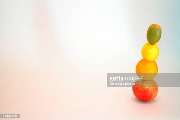 Apple orange lemon kiwi fruit