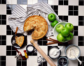 Apple pie and ingredients