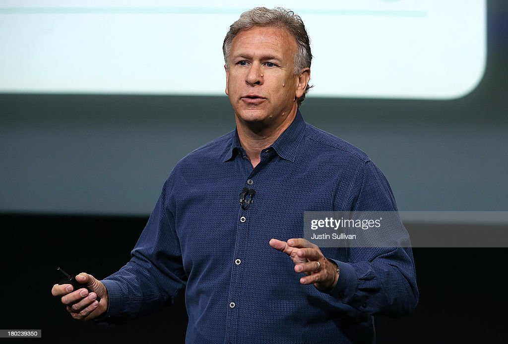 Apple Senior Vice President of Worldwide Marketing at Phil Schiller speaks during an Apple product announcement at the Apple campus on September 10, 2013 in Cupertino, California. The company launched the new iPhone 5C model that will run iOS 7 is made from hard-coated polycarbonate and comes in various colors.