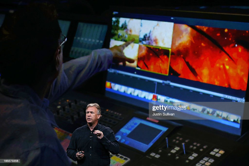 Apple Senior Vice President of Worldwide Marketing at Phil Schiller speaks during an Apple announcement at the Yerba Buena Center for the Arts on October 22, 2013 in San Francisco, California. The tech giant is expected to announce its new iPad 5, iPad mini 2, OS X Mavericks and possibly a new retina MacBook Pro.