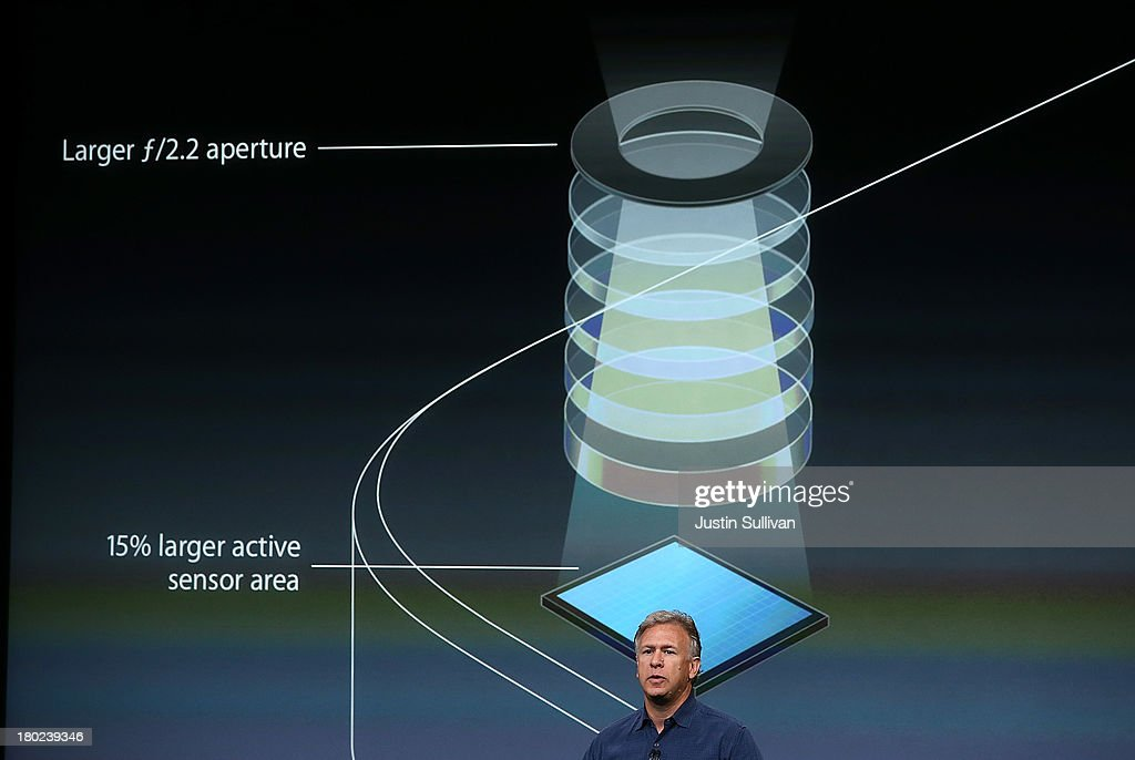Apple Senior Vice President of Worldwide Marketing Phil Schiller speaks during an Apple product announcement at the Apple campus on September 10, 2013 in Cupertino, California. The company launched the new iPhone 5C model that will run iOS 7 is made from hard-coated polycarbonate and comes in various colors.