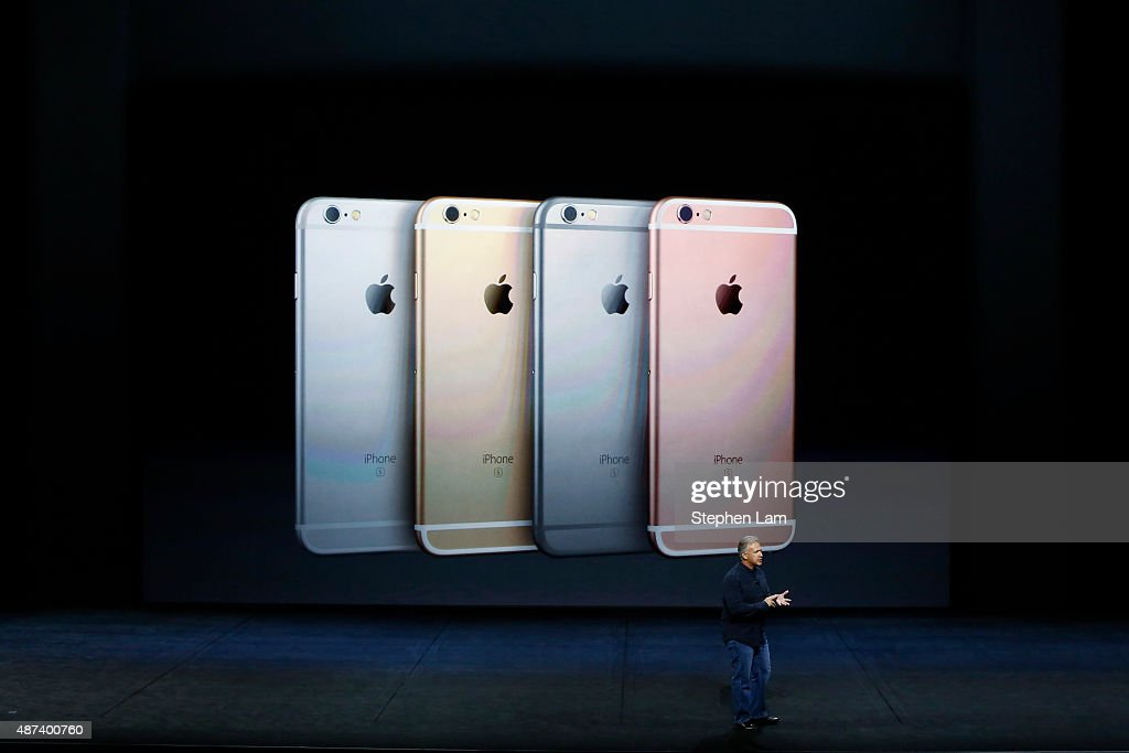 Apple Senior Vice President of Worldwide Marketing Phil Schiller announces new a color for the new iPhone 6s and 6s Plus during a Special Event at...