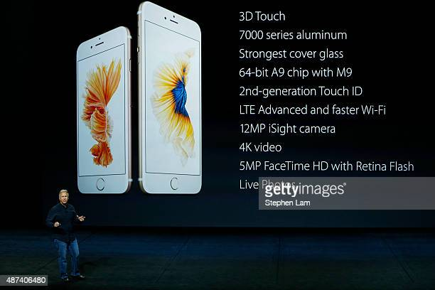 Apple Senior Vice President of Worldwide Marketing Phil Schiller speaks about the new iPhone 6s and 6s Plus during a Special Event at Bill Graham...