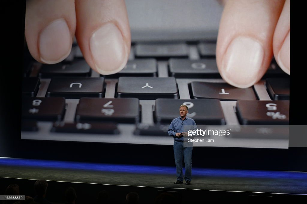 Apple Senior Vice President of Worldwide Marketing <a gi-track='captionPersonalityLinkClicked' href=/galleries/search?phrase=Phil+Schiller&family=editorial&specificpeople=1384861 ng-click='$event.stopPropagation()'>Phil Schiller</a> announces the new MacBook during an Apple special event at the Yerba Buena Center for the Arts on March 9, 2015 in San Francisco, California. Apple Inc. is expected to unveil more details on the much anticipated Apple Watch, the tech giant's entry into the rapidly growing wearable technology segment.