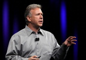 Apple Senior Vice President of Worldwide product marketing Phil Schiller speaks during the keynote address at the 2011 Apple World Wide Developers...