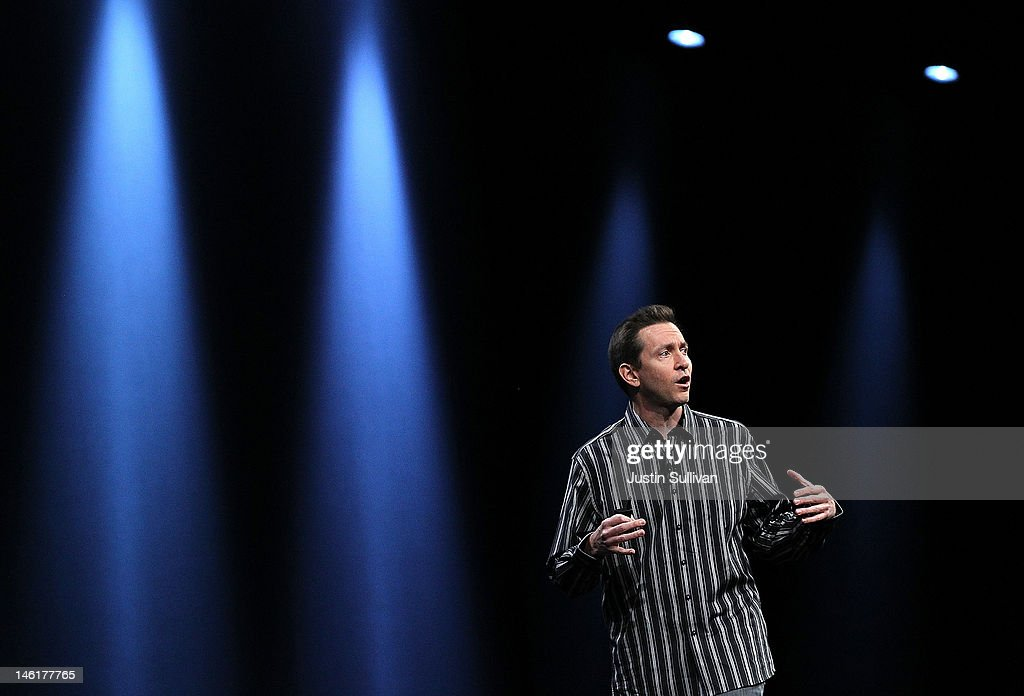 Apple Senior VP of iPhone Software Scott Forstall speaks during the keynote address at the Apple 2012 World Wide Developers Conference (WWDC) at Moscone West on June 11, 2012 in San Francisco, California. Apple unveiled a slew of new hardware and software updates at the company's annual developer conference which runs through June 15.