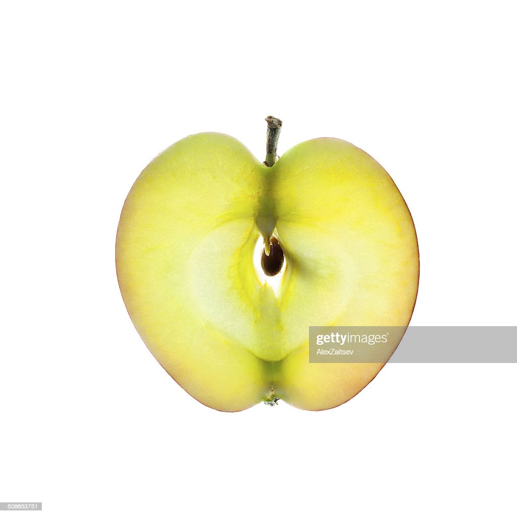 Apple slice isolated on white : Stock Photo