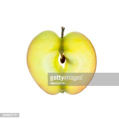 Apple slice isolated on white : Stock Photo