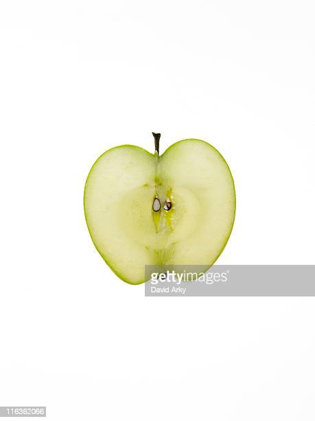 Apple slice on white background