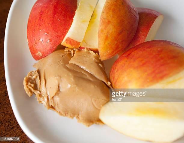 Apple Slices with Peanut Butter Snack