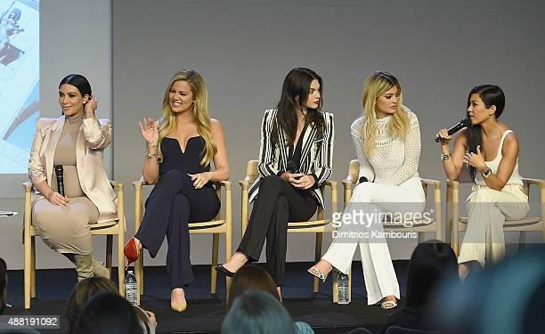 Apple Store Soho Presents Meet The Developers Kim Kardashian Khloe Kardashian Kendall Jenner Kylie Jenner and Kourtney Kardashianat attends the Apple...