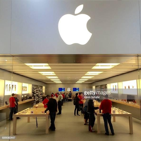 Apple Store Southcenter Mall Tukwila Washington iconic logo over entrance to store World's Most Valuable Company