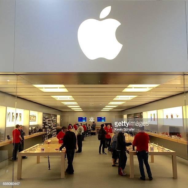 Apple Store Southcenter Mall Tukwila Washington iconic logo over entrance to store World's Most Valuable Company