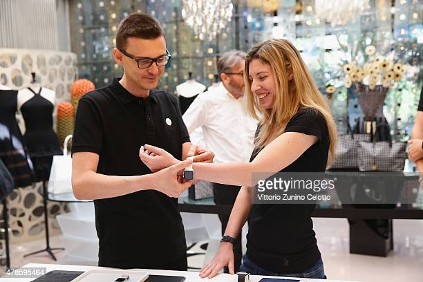 Apple Watch is now available in seven more countries at Corso Como 10 on June 26 2015 in Milan Italy