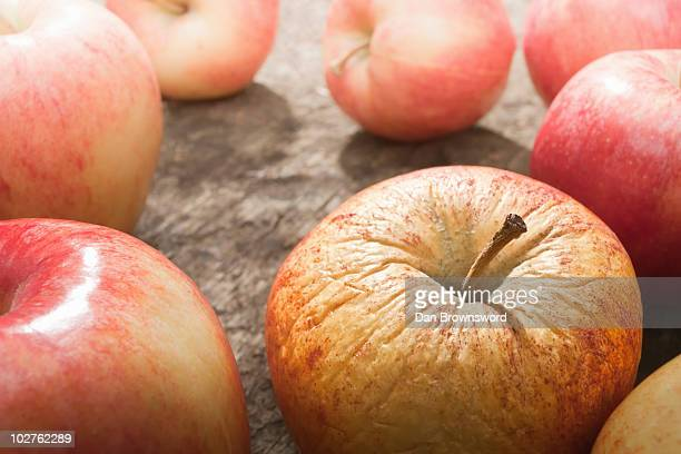Apple with bad skin