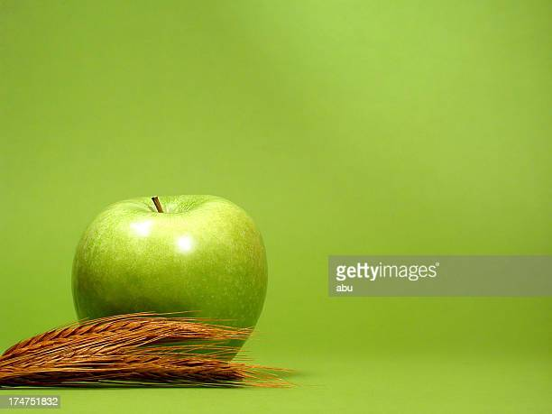 Apple with cereal