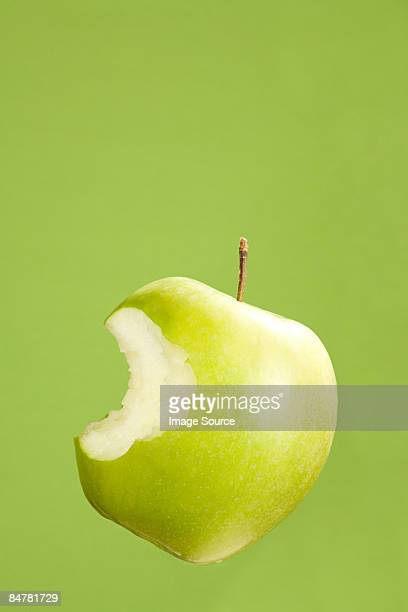 Apple with missing bite