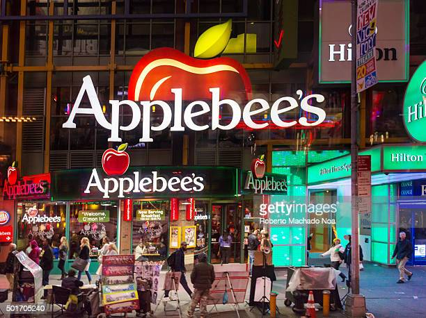 Applebee's restaurant at Times Square in New York City USA Applebees International Inc is an company which develops franchises and operates the...