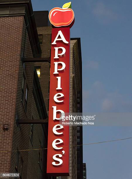 Applebee's sign outside the premises during night time Applebees International Inc is an company which develops franchises and operates the...