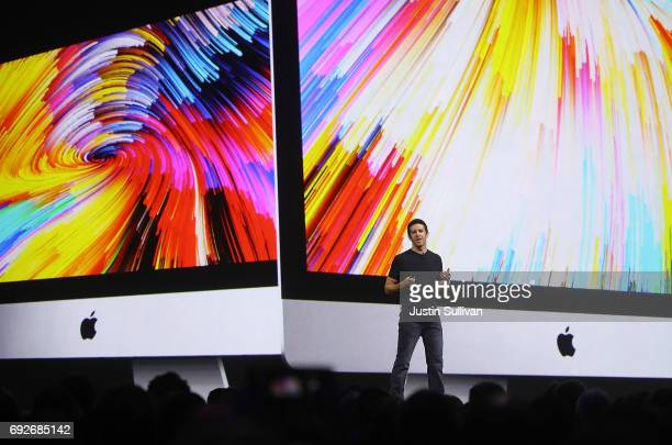 Apple's John Ternus speaks during the 2017 Apple Worldwide Developer Conference at the San Jose Convention Center on June 5 2017 in San Jose...