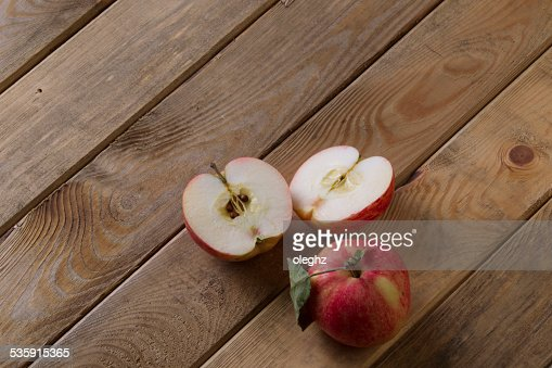 Apples on the board : Stock Photo