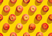 Pattern, background, apple - fruit, seamless pattern, yellow