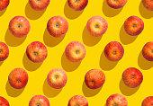 Pattern, background, apple - fruit, seamless pattern, yellow