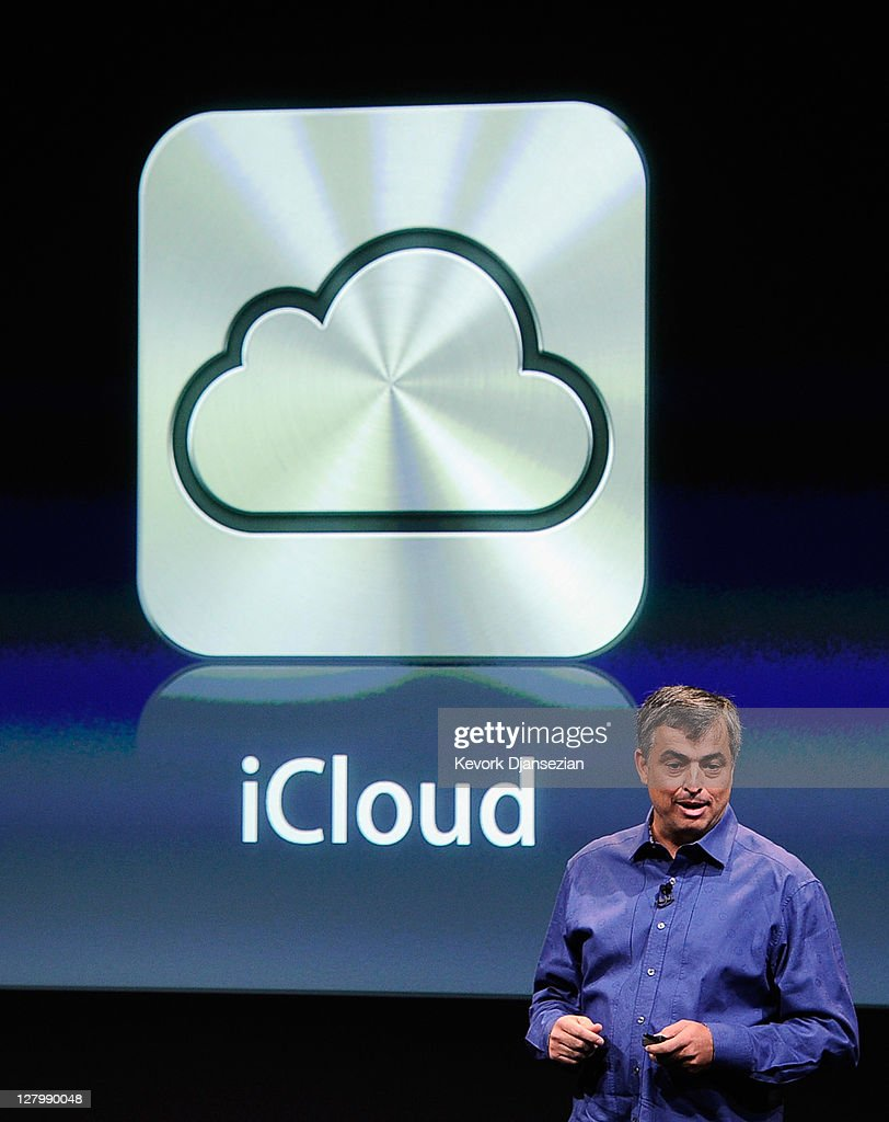 Apple's senior vice president of Internet Software and Services Eddy Cue speaks about iCloud during introduction of the new iPhone 4s at the company's headquarters October 4, 2011 in Cupertino, California. The announcement marks the first time new CEO Tim Cook introduced a new product since Apple co-founder Steve Jobs resigned in August.