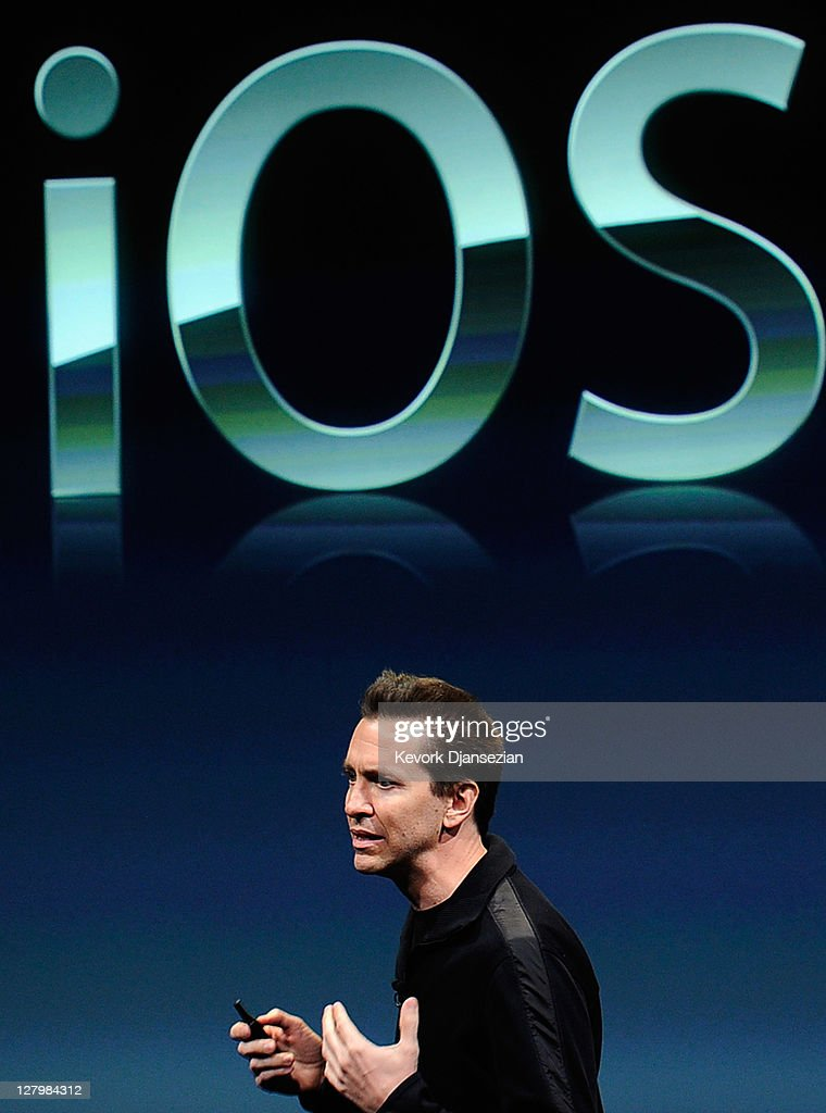 Apple's Senior Vice President of iOS Scott Forstall speaks at the event introducing the new iPhone 4s at the company's headquarters October 4, 2011 in Cupertino, California. The announcement marks the first time new CEO Tim Cook introduced a new product since Apple co-founder Steve Jobs resigned in August